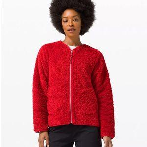 NWT Lululemon red sherpa jacket